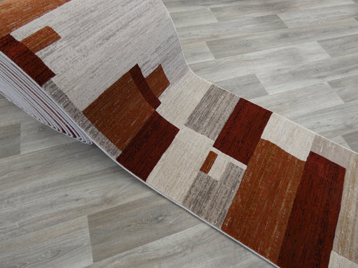 Modern Squares Design Runner 80cm Wide x Cut to Order