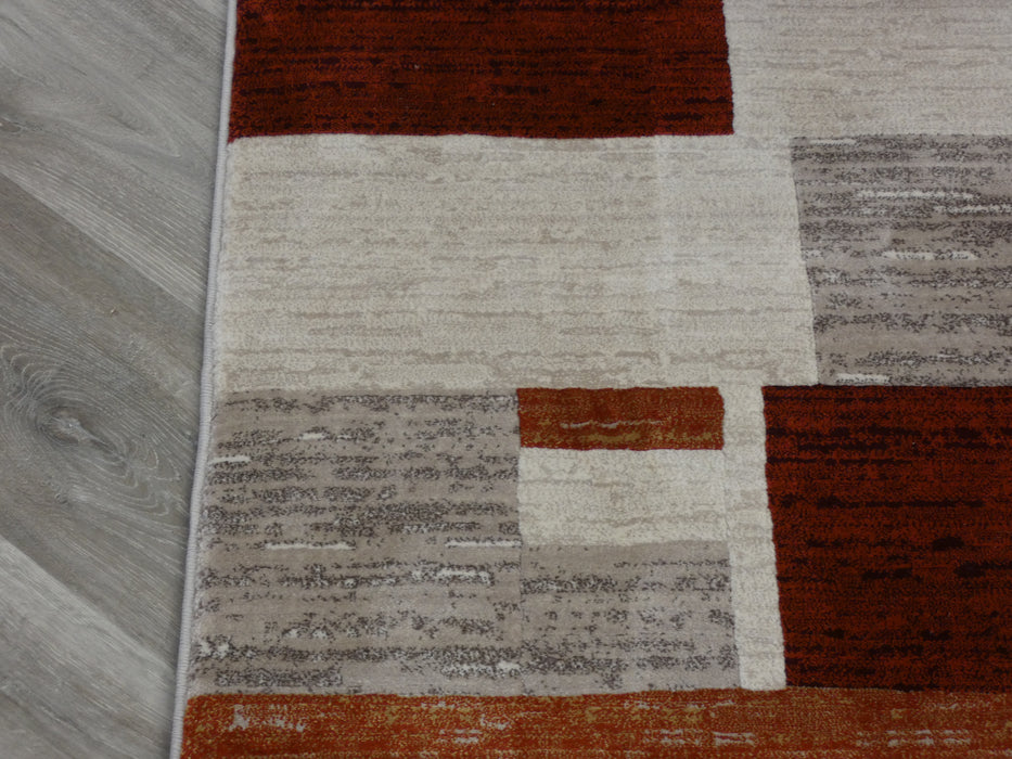 Modern Squares Design Runner 80cm Wide x Cut to Order-Runners-Rugs Direct