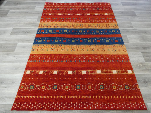 Hand Knotted Gabbeh Rug Size: 170 x 240cm-natural/wool-Rugs Direct
