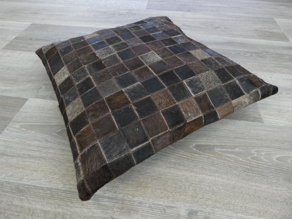 Cowhide Patchwork Cushion-Cowhide Patch-Rugs Direct