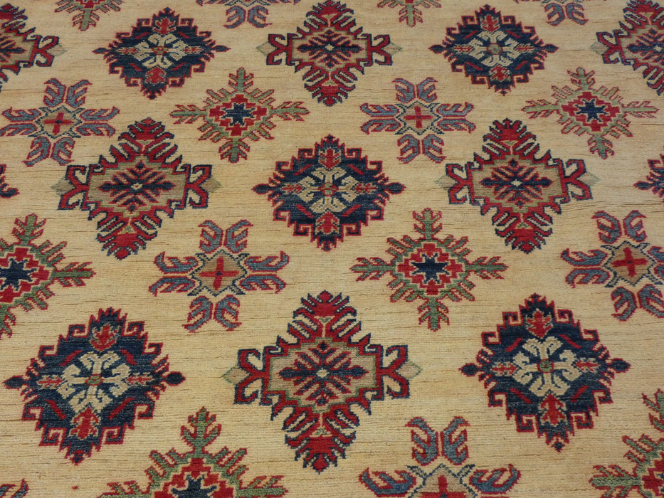 Afghan Hand Knotted Kazak Rug Size: 284 x 202cm-Kazak Rug-Rugs Direct