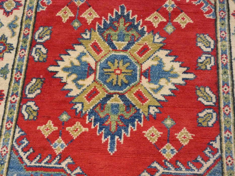 Afghan Hand Knotted Kazak Runner Size: 286 x 78cm-Kazak Rug-Rugs Direct