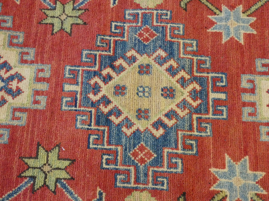 Afghan Hand Knotted Kazak Runner Size: 300 x 82cm-Afghan Runner-Rugs Direct