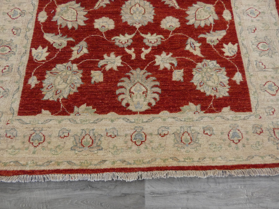 Afghan Hand Knotted Super Fine Choubi Runner Size: 588 x 122cm-Afghan Runner-Rugs Direct