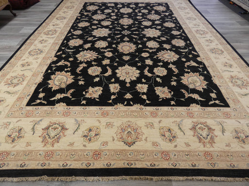 Afghan Hand Knotted Super Fine Choubi Rug Size: 414 x 295cm-Afghan Rug-Rugs Direct
