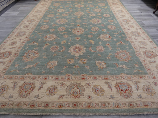 Afghan Hand Knotted Super Fine Choubi Rug Size: 418 x 296cm-Afghan Rug-Rugs Direct