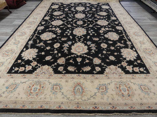 Afghan Hand Knotted Super Fine Choubi Rug Size: 424 x 302cm-Afghan Rug-Rugs Direct