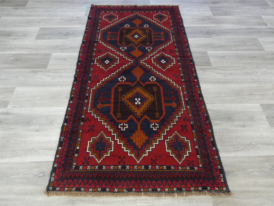 Afghan Hand Knotted Baluchi Rug Size: 198 x 105cm