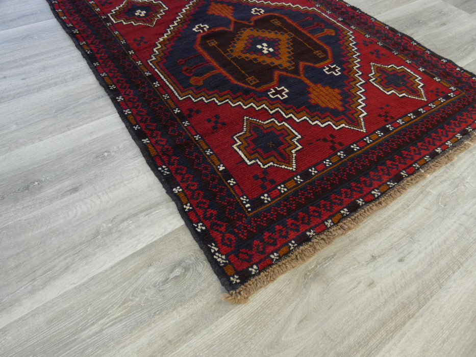 Afghan Hand Knotted Baluchi Rug Size: 198 x 105cm-Baluchi Rug-Rugs Direct