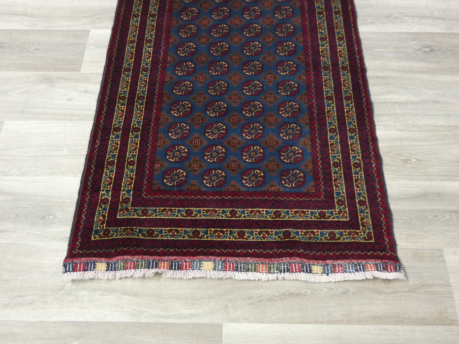 Afghan Hand Knotted Khal Mohammadi Runner Size: 296 x 85cm