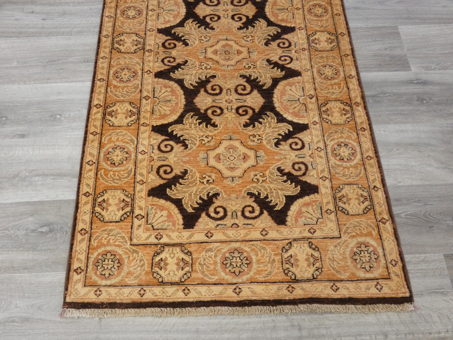 Afghan Hand Knotted Choubi Hallway Runner Size: 278 x 82cm-Afghan Runner-Rugs Direct