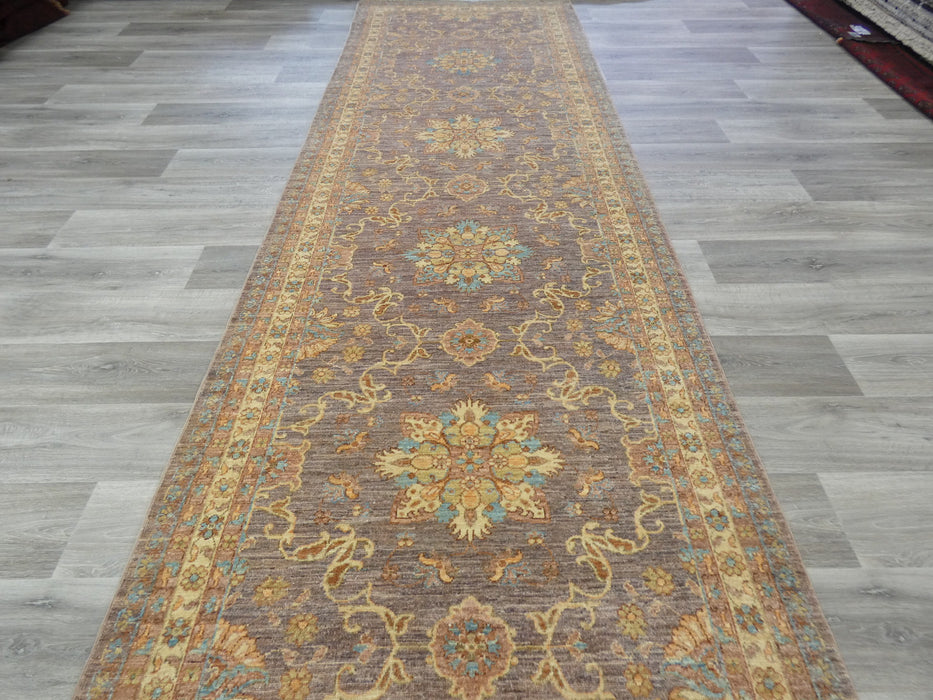 Afghan Hand Knotted Choubi Hallway Runner Size: 400 x 122cm