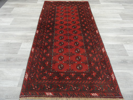 Afghan Hand Knotted Turkman Rug Size: 195 x 103cm