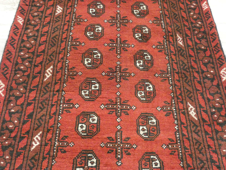 Afghan Hand Knotted Turkman Rug Size: 150 x 100cm