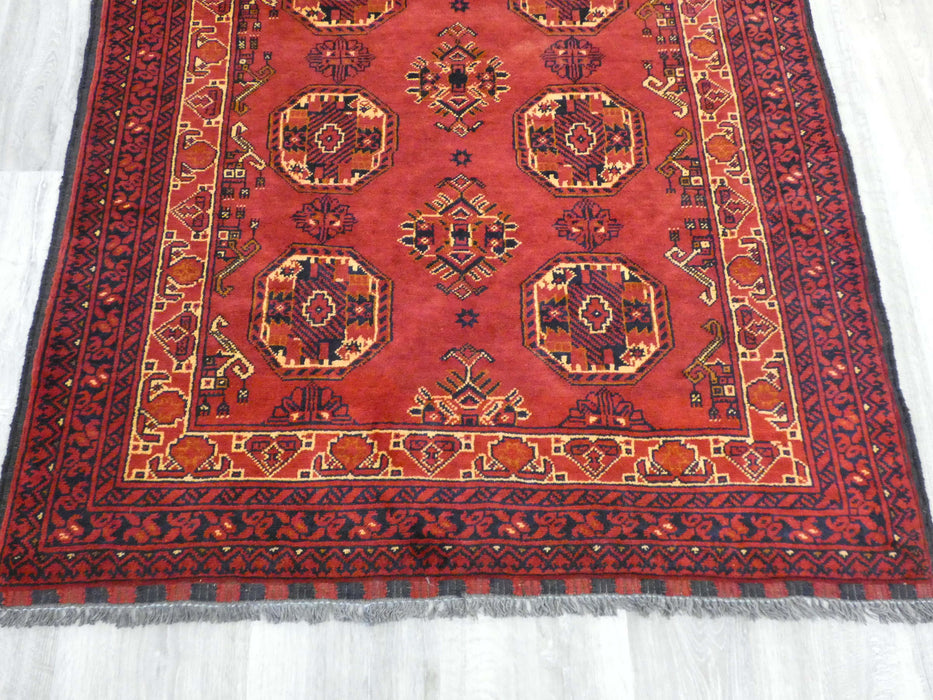 Classic Afghan Hand Knotted Khal Mohammadi Rug Size: 140 x 98cm-Afghan Rug-Rugs Direct
