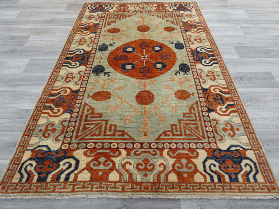 Afghan Hand Knotted Super Fine Choubi Rug Size: 240 x 161cm-Afghan Rug-Rugs Direct