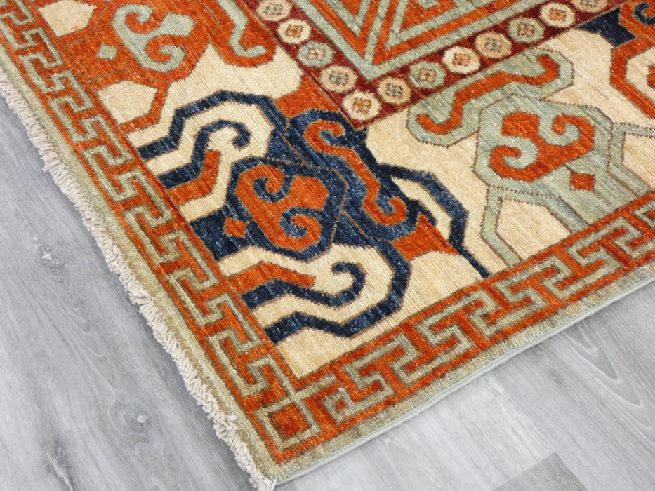 Afghan Hand Knotted Super Fine Choubi Rug Size: 240 x 161cm