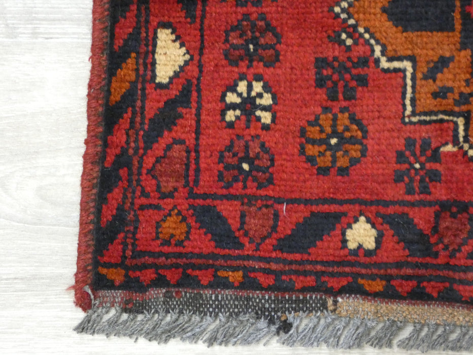 Afghan Hand Knotted Khal Mohammadi Doormat Size: 100 x 49cm-Afghan Rug-Rugs Direct