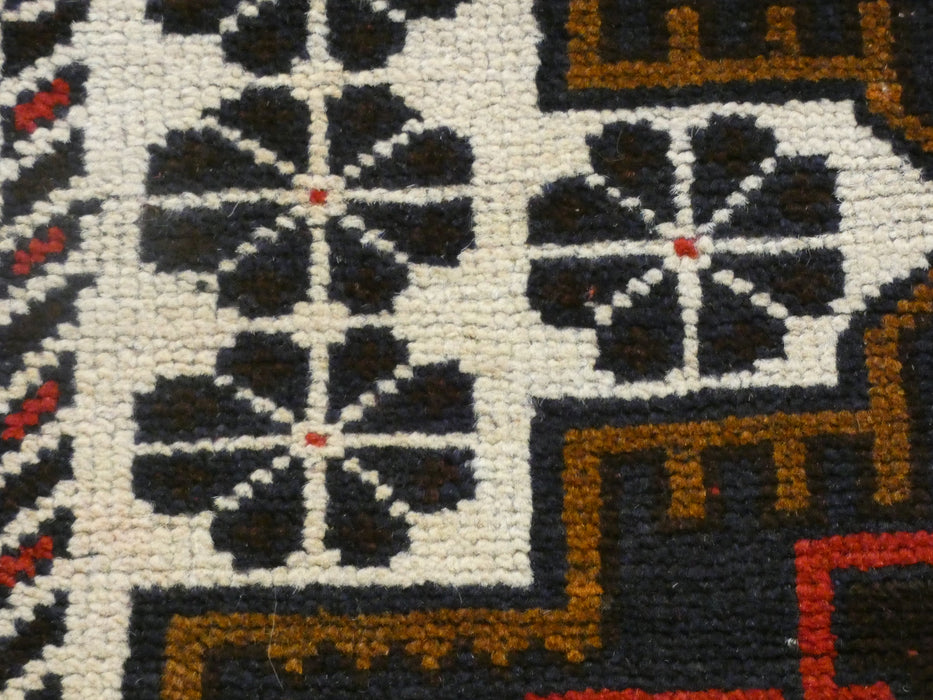Afghan Hand Knotted Baluchi Rug Size: 193 x 106cm
