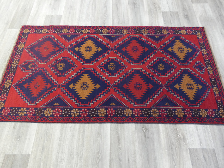 Afghan Hand Knotted Baluchi Rug Size: 205 x 105cm