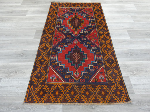 Afghan Hand Knotted Baluchi Rug Size: 191 x 106cm