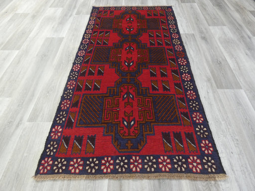 Afghan Hand Knotted Baluchi Rug Size: 200 x 104cm