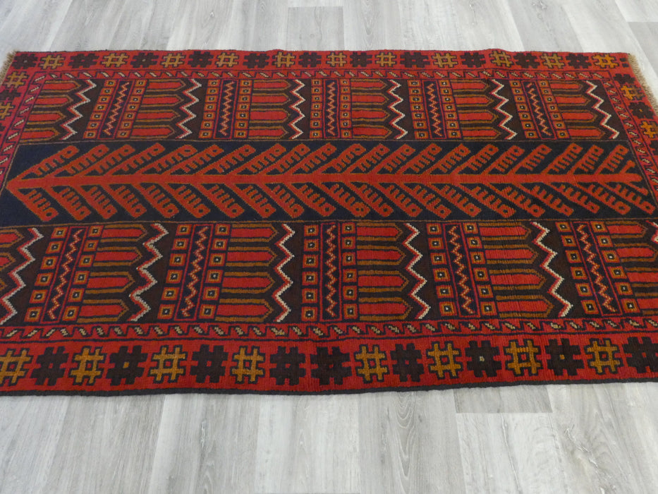 Afghan Hand Knotted Baluchi Rug Size: 200 x 103cm