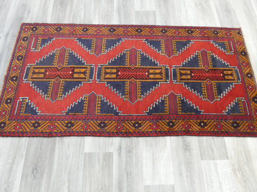 Afghan Hand Knotted Baluchi Rug Size: 201 x 99cm