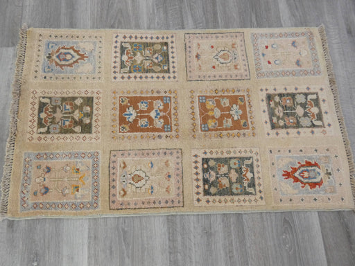 Afghan Hand Knotted Choubi Doormat Size: 88 x 52cm