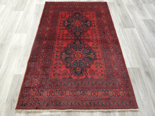 Afghan Hand Knotted Khal Mohammadi Rug Size: 195 x 125cm