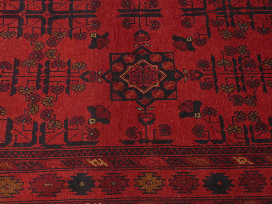 Afghan Hand Knotted Khal Mohammadi Rug Size: 198 x 126cm