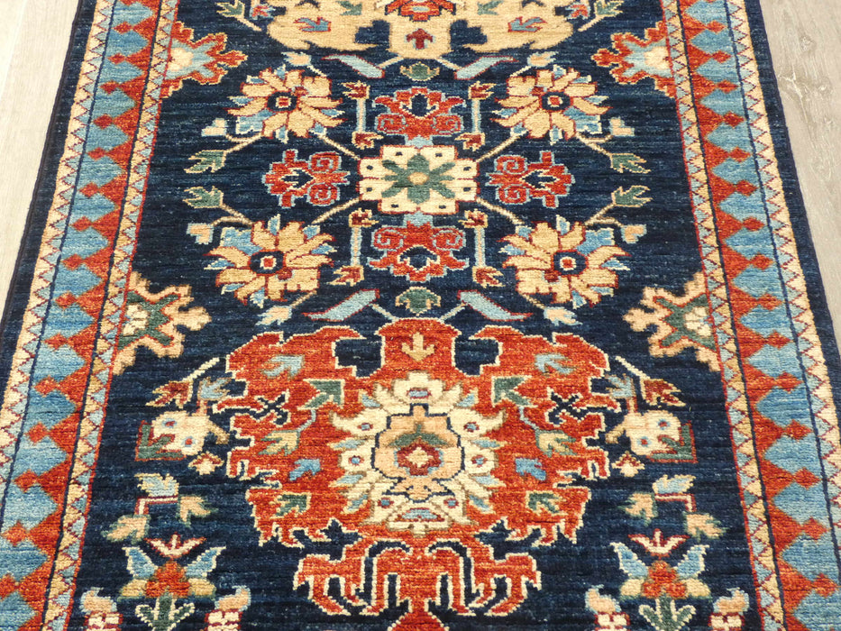 Afghan Hand Knotted Choubi Hallway Runner Size: 304 x 81cm