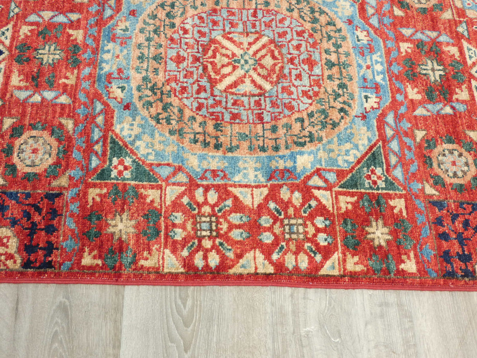 Afghan Hand Knotted Choubi Hallway Runner Size: 382 x 82cm