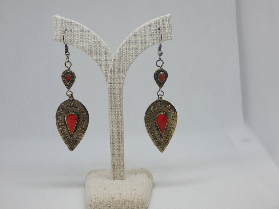Afghan Earring, Handmade and Traditional-Afghan Accessories Necklace-Rugs Direct