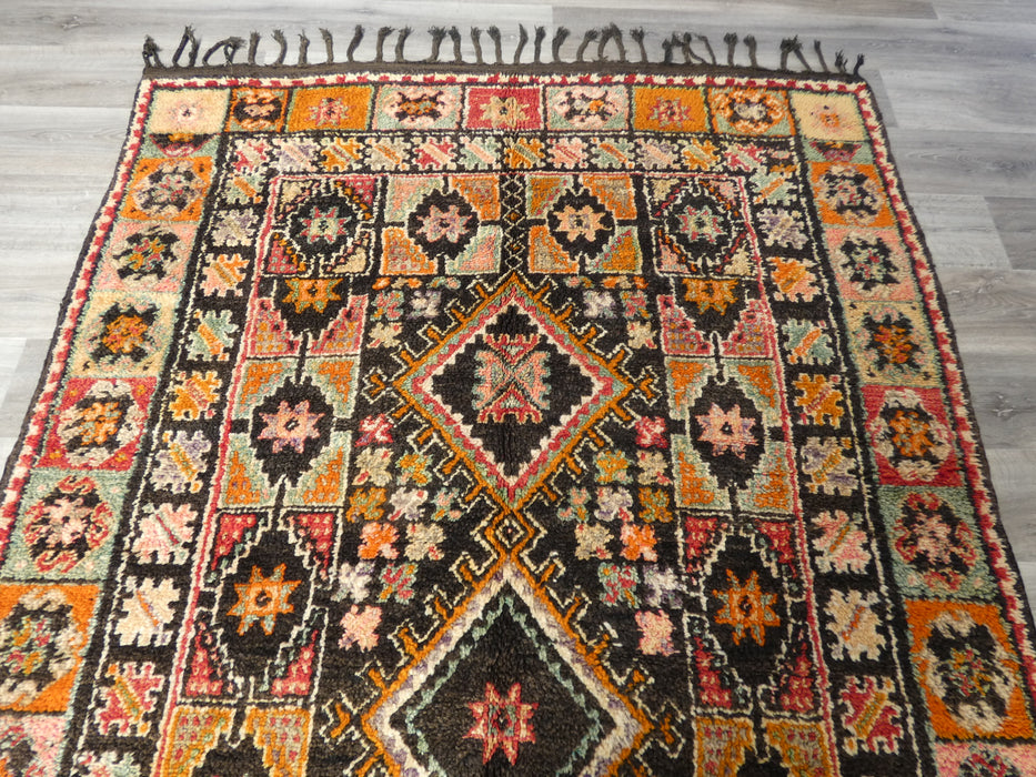 Vintage Tribal Moroccan Atlas Zayane Rug Size: 294 x 170cm-Moroccan Rug-Rugs Direct