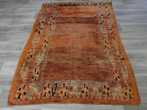 Vintage Tribal Moroccan Atlas Zayane Rug Size: 208 x 155cm-Moroccan Rug-Rugs Direct