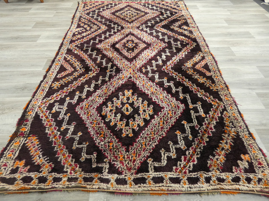 Vintage Tribal Moroccan Atlas Zayane Rug Size: 317 x 188cm-Moroccan Rug-Rugs Direct