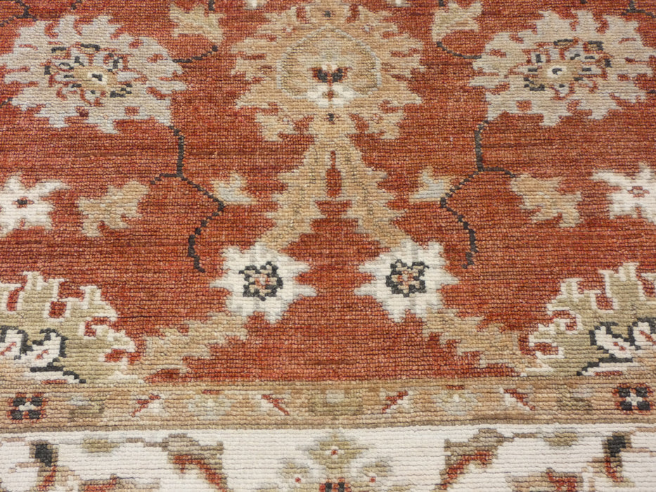 Rust Colour Hand Knotted Chobi Rug