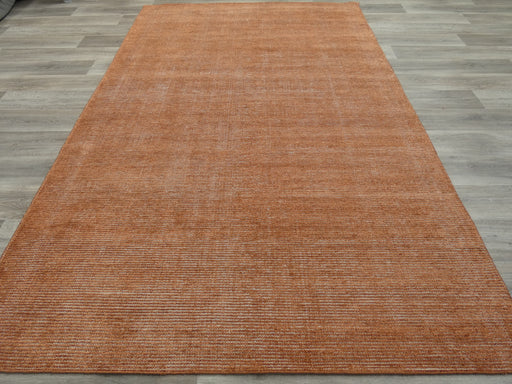 Distressed Copper Coloured Bamboo Silk Rug