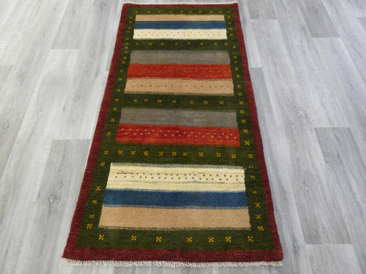 Authentic Persian Hand Knotted Gabbeh Rug Size: 173 x 86cm