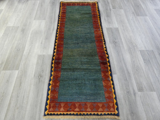 Authentic Persian Hand Knotted Gabbeh Rug Size: 193 x 72cm-Persian Gabbeh Rug-Rugs Direct
