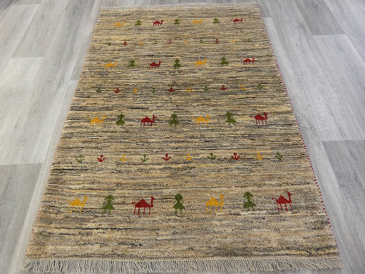 Authentic Persian Hand Knotted Gabbeh Rug Size: 150 x106cm
