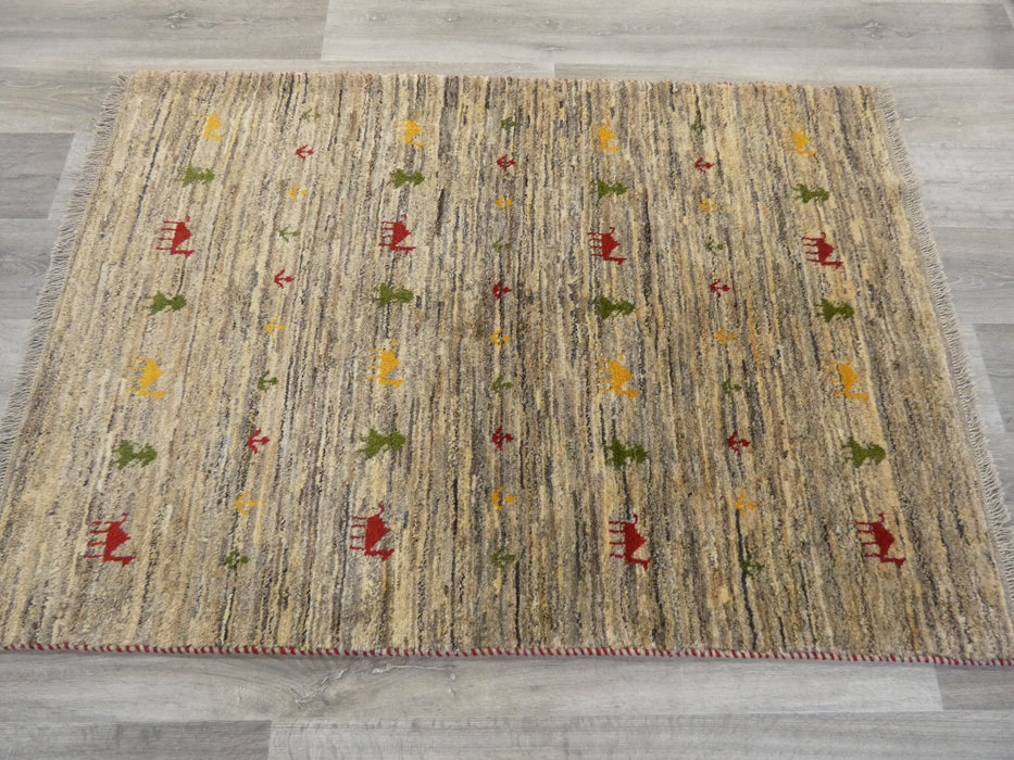 Authentic Persian Hand Knotted Gabbeh Rug Size: 150 x106cm-Persian Gabbeh Rug-Rugs Direct