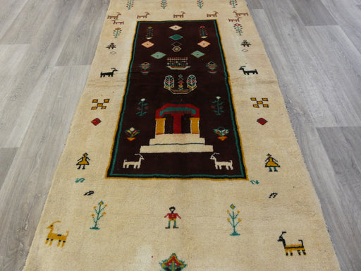 Authentic Persian Hand Knotted Gabbeh Rug Size: 198 x 95cm