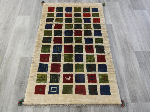 Authentic Persian Hand Knotted Gabbeh Rug Size: 147 x 96cm-Persian Gabbeh Rug-Rugs Direct