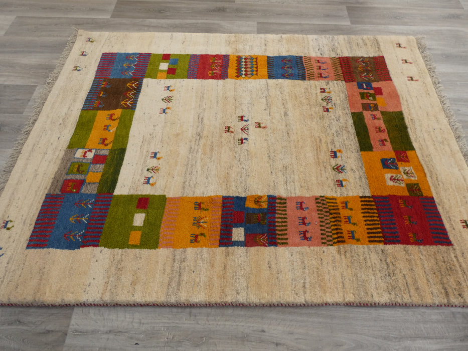 Authentic Persian Hand Knotted Gabbeh Rug Size: 200 x 148cm