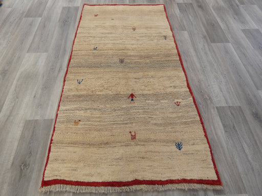 Authentic Persian Hand Knotted Gabbeh Rug Size: 196 x 103cm