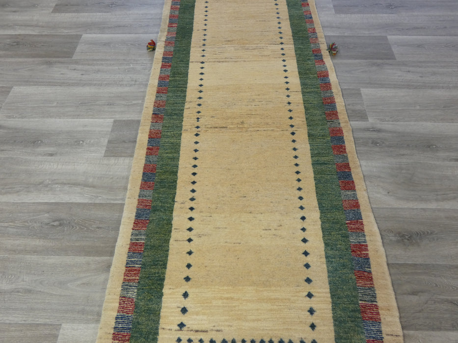 Authentic Persian Hand Knotted Gabbeh Runner Size: 289 x 80cm