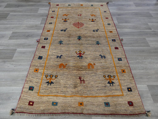 Authentic Persian Hand Knotted Gabbeh Rug Size: 230 x 132cm
