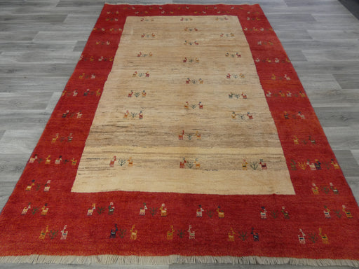 Authentic Persian Hand Knotted Gabbeh Rug Size: 290 x 203cm